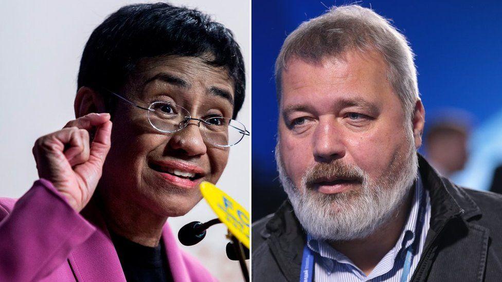 नोबेल शान्ति पुरस्कार रुस र फिलिपिन्सका दुई पत्रकारलाई संयुक्तरुपमा दिइने