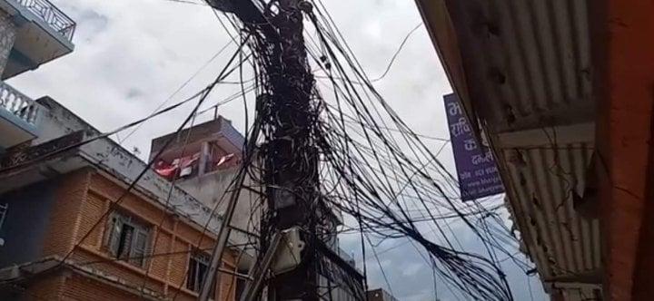 शनिबारबाट इन्टरनेटको तार काट्ने विद्युत् प्राधिकरणको चेतावनी